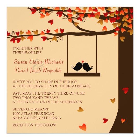 Love Bird Wedding Invitation