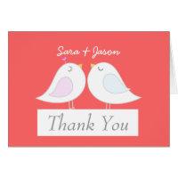 Love Birds Wedding Thank You Card