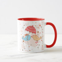 Love Birds Wedding Valentines Mug