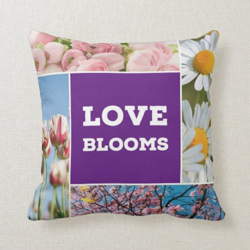 Love Blooms Throw Pillow