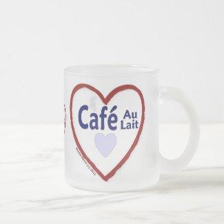 Love Café Au Lait - Frosted Mug
