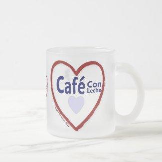Love Café Con Leche - Frosted Mug