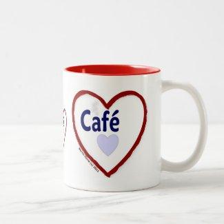 Love Café - Two-Tone Mug