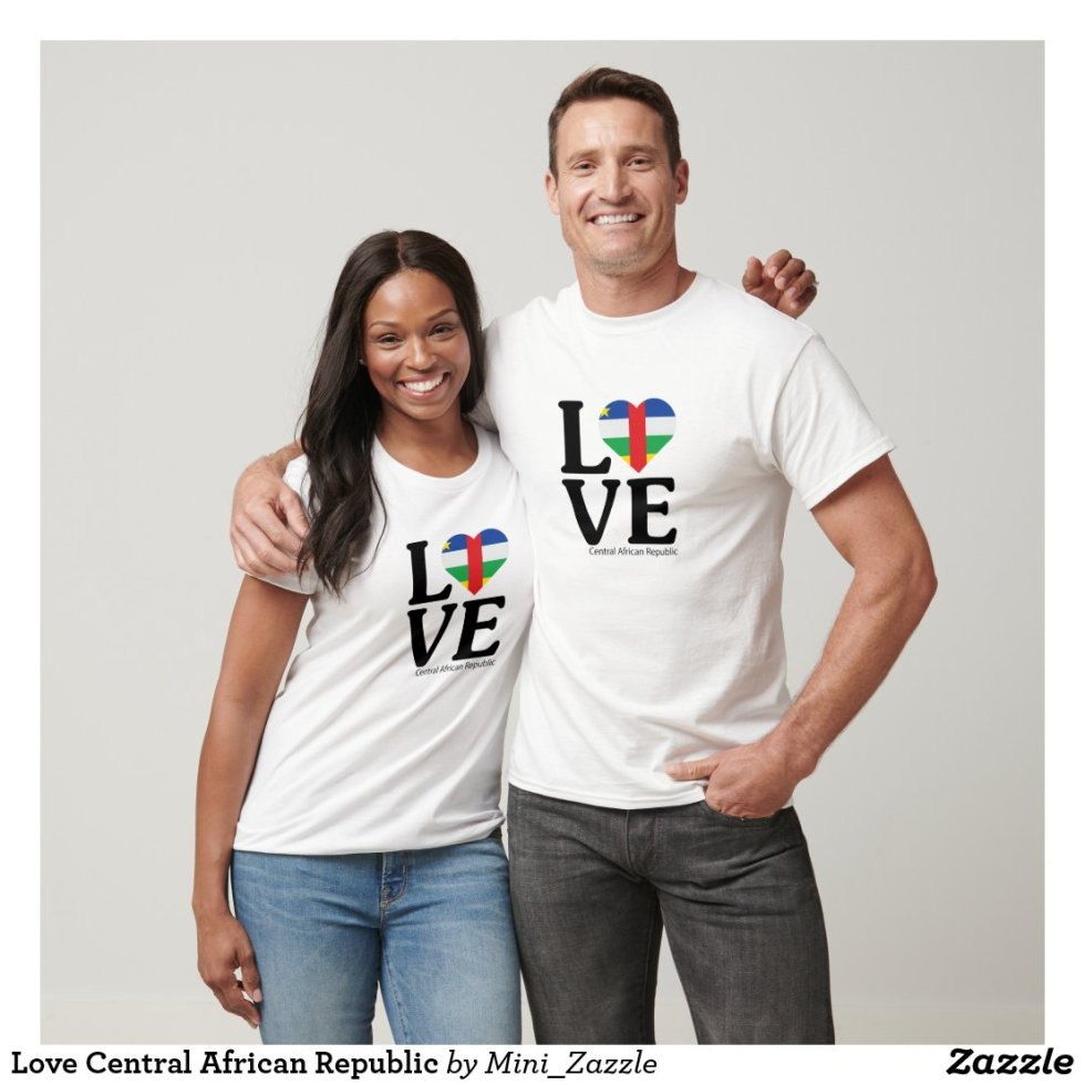 Love Central African Republic Couple T-Shirt