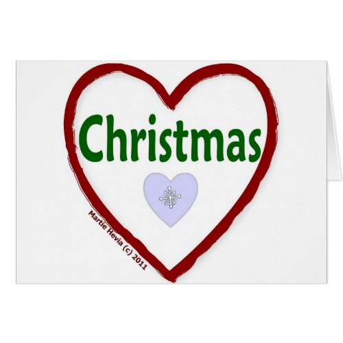 Love Christmas Greeting Card
