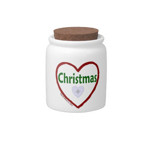 Love Christmas Jar Candy Dishes