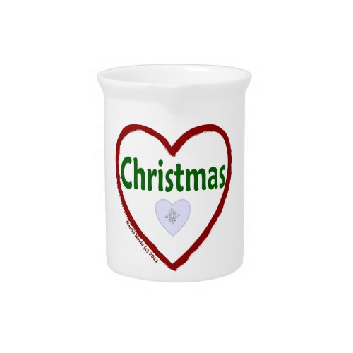 Love Christmas Pitcher