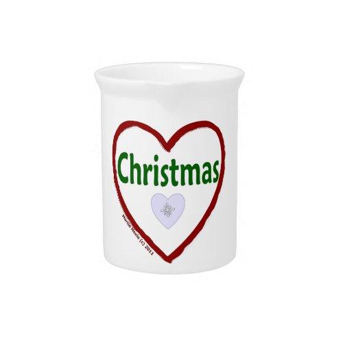 Love Christmas Pitcher