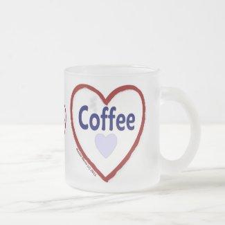 Love Coffee - Frosted Mug