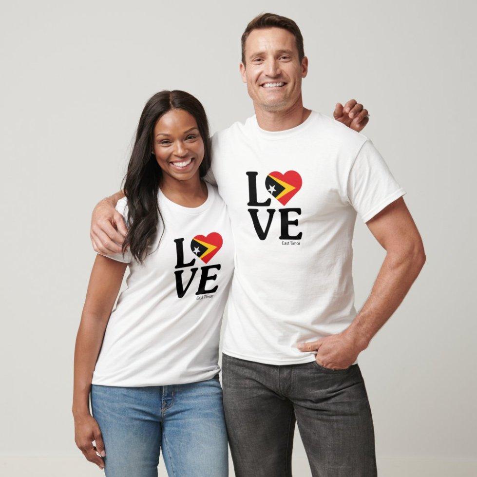 Love East Timor Couple T-Shirt