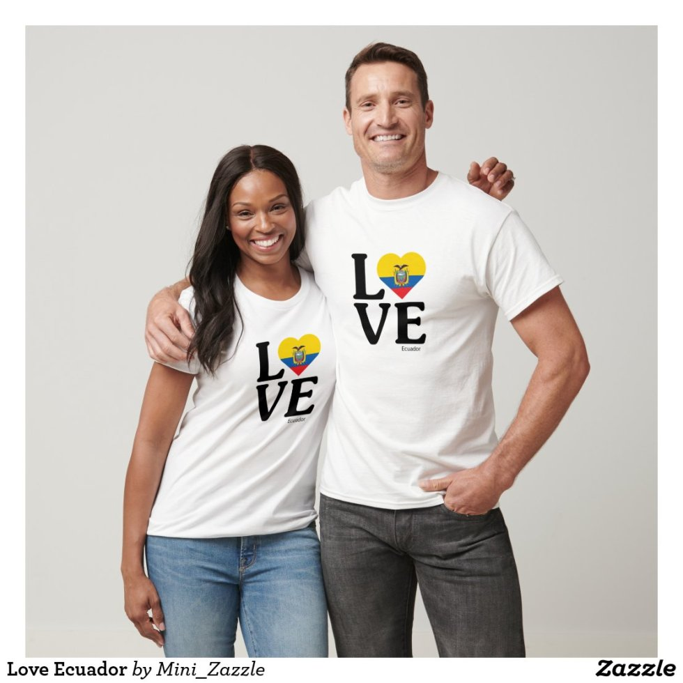 Love Ecuador Couple T-Shirt