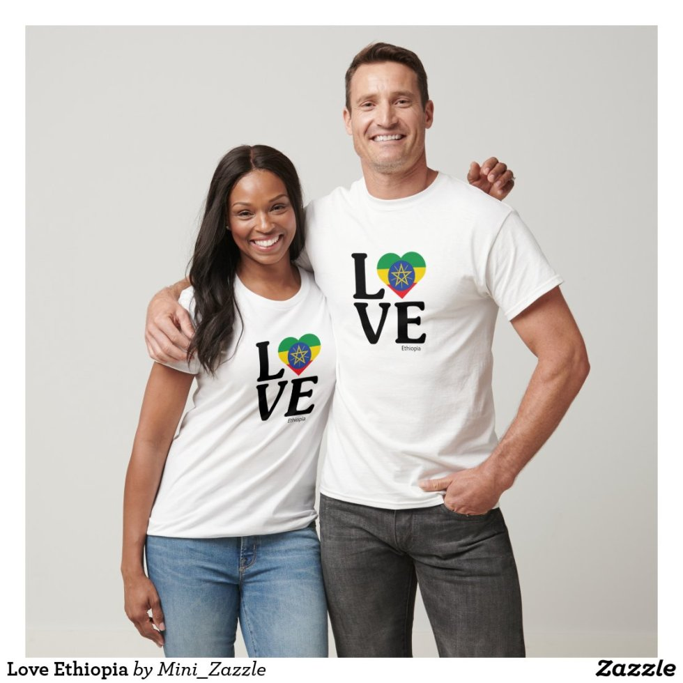 Love Ethiopia Couple T-Shirt