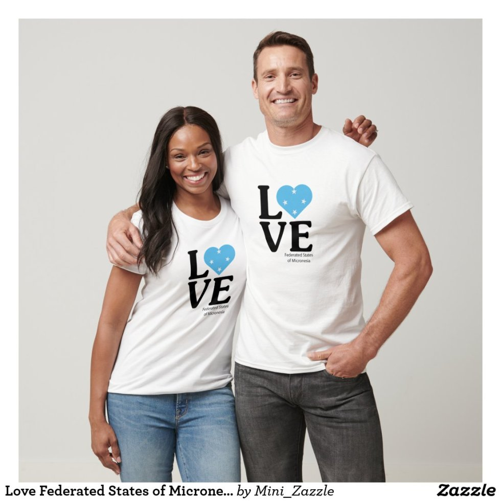 Love Federated States of Micronesia Couple T-Shirt