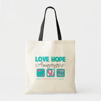 Love Hope Awareness Hereditary Breast Cancer bag