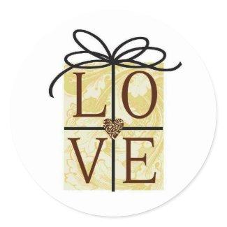 Love invitation seals sticker