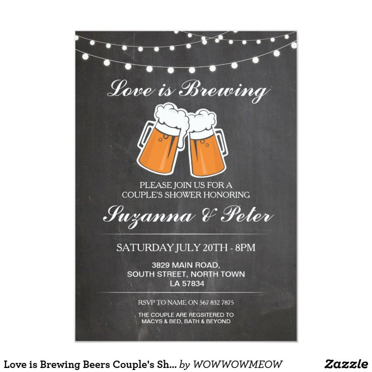 Love is Brewing Beers Couple's Showers Invite
