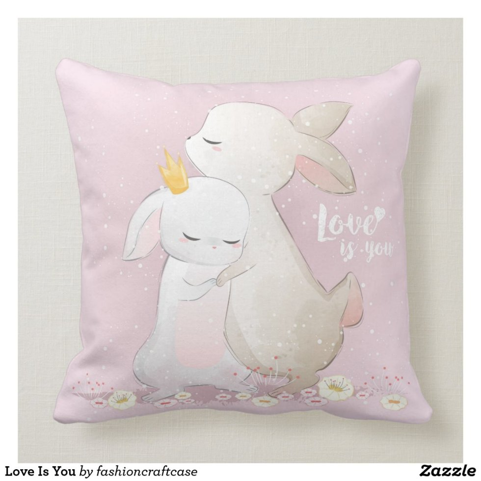 Love Is You Throw Pillow