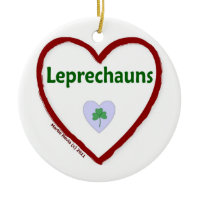 Love Leprechauns Christmas Tree Ornaments