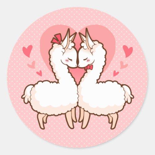 Love Llama Sticker