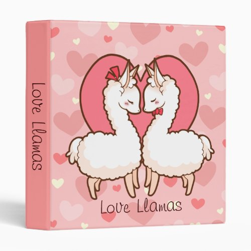 Love Llamas Heart Binder