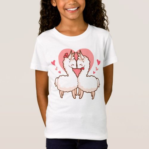 Love Llamas Kids T-shirt