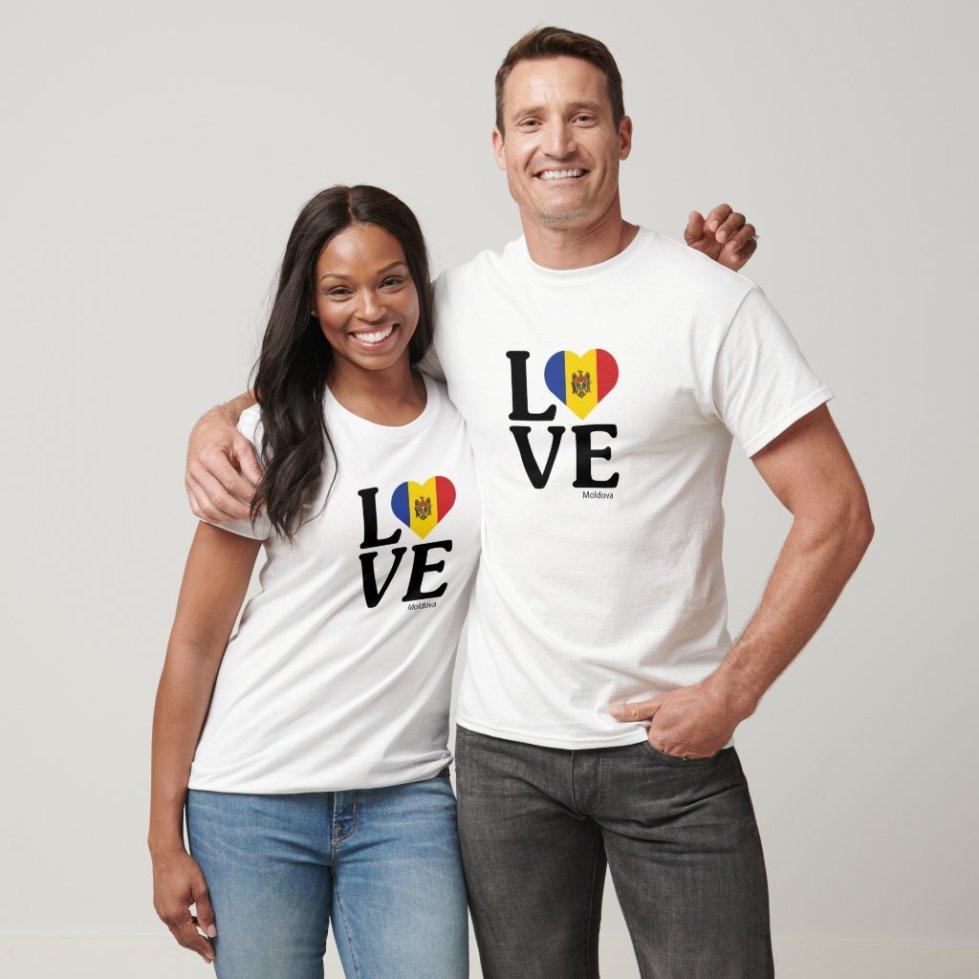 Love Moldova Couple T-Shirt