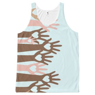 Love not fear All-Over print tank top
