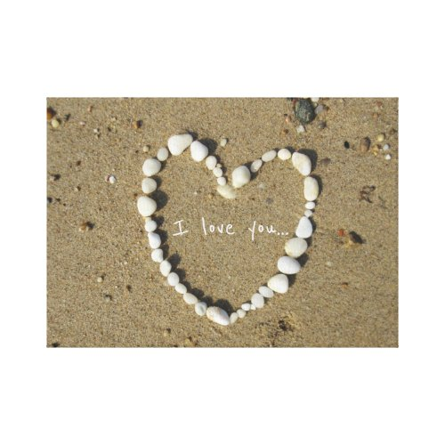 Love notes at the shore. canvas print