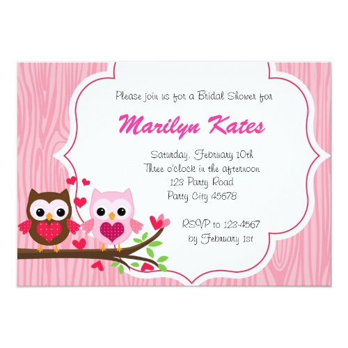 Love Owl on the branch Invitation