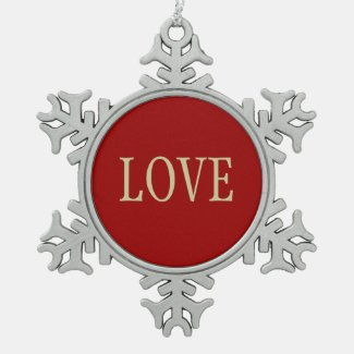 (Love) Pewter Snowflake Ornament