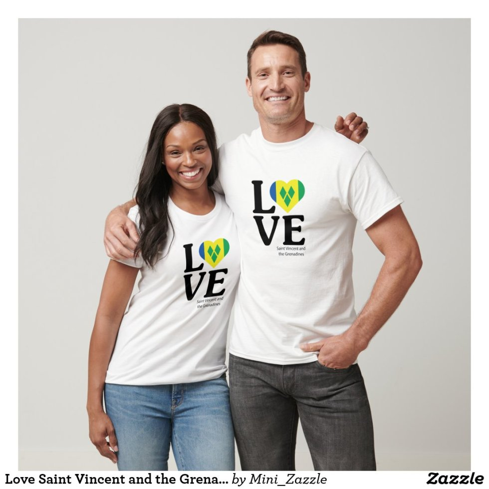 Love Saint Vincent and the Grenadines Couple T-Shirt