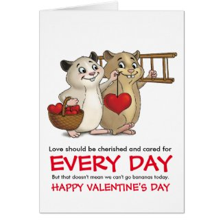 Love should be cherished and cared for every day.. greeting card