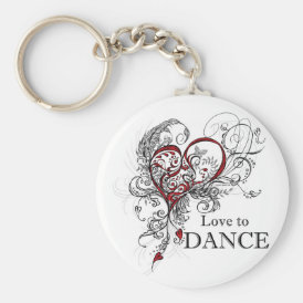 Love to Dance Key Chain