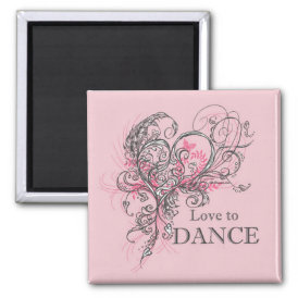 Love to Dance Magnet (customizable)