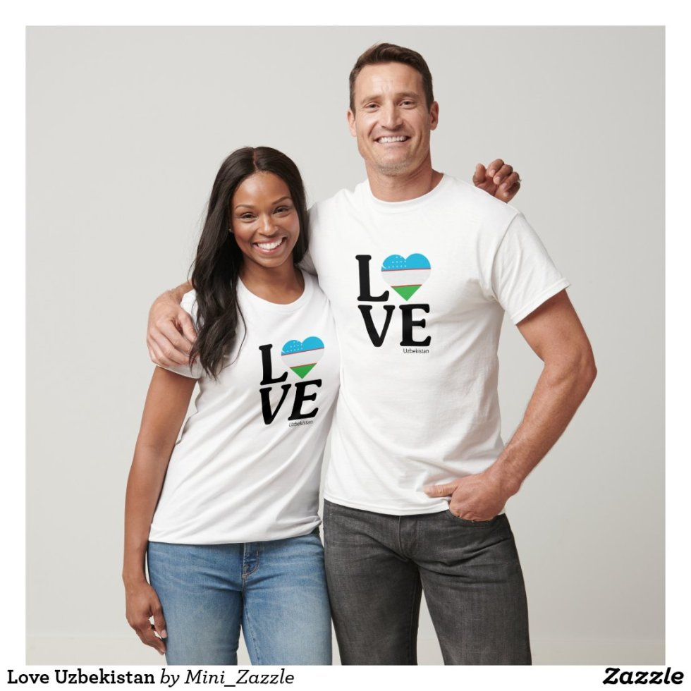 Love Uzbekistan Couple T-Shirt