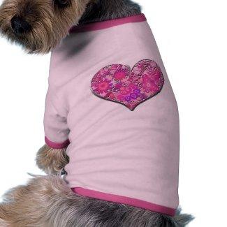 Love Valentine's Day Pink Heart Vector Valentine Pet T Shirt