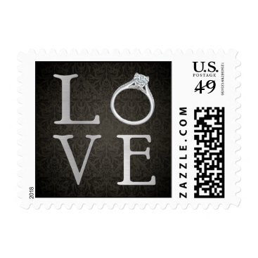 LOVE with Wedding Ring Postage
