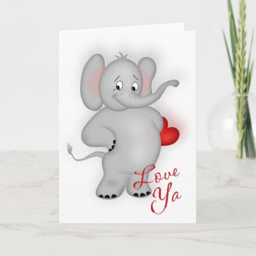Love Ya Elephant Card