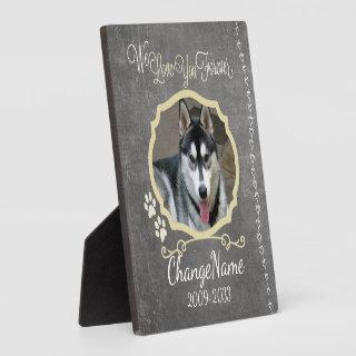 Love You Forever Dog Memorial Keepsake Plaque