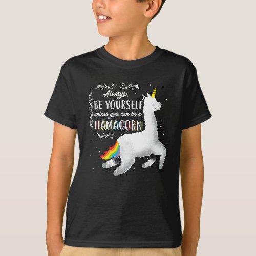 Love yourself Llamacorn gift T-Shirt