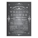 Lovely Chalkboard Couples Wedding Shower Invitation