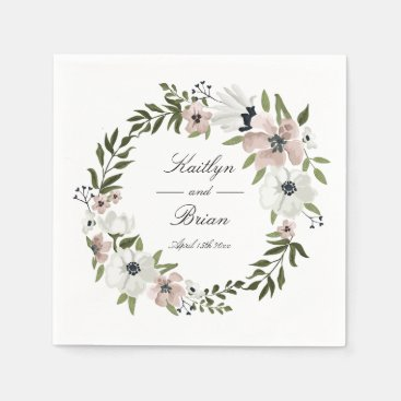 Lovely Floral Wedding Napkin