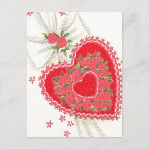 Lovely Vintage Mid Century Teacher Valentine Holiday Postcard