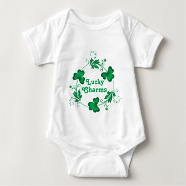 Lucky Charms Trinity Clovers Baby Bodysuit