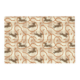 lucky dogs with sausages background laminated placemat