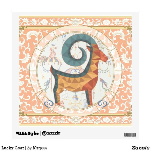 Lucky Goat | wall art Wall Decal