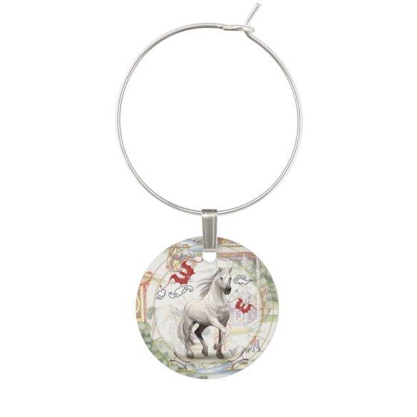 Lucky Horse | Zodiac token Wine Charm