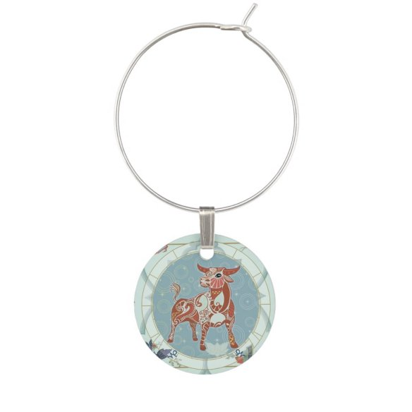 Lucky Ox | Zodiac token Wine Charm