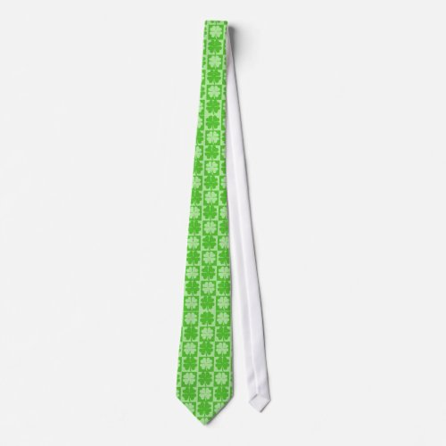 Lucky Shamrock Four-Leaf Clover St. Patrick's Day Tie