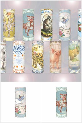 Lucky Zodiac Candles